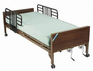 Manual Hospital Bed With Half Rails And Innerspring
