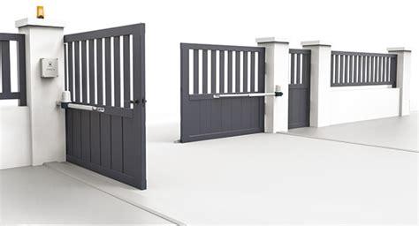 motorisation portail ouverture vers l exterieur motorisation portail battant open 1 safety 24v scs la boutique