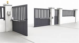 Moteur Portail Electrique : motorisation portail battant open 1 comfort scs la ~ Premium-room.com Idées de Décoration