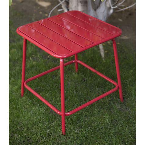 patio side table metal belham living adley outdoor metal slat side table patio