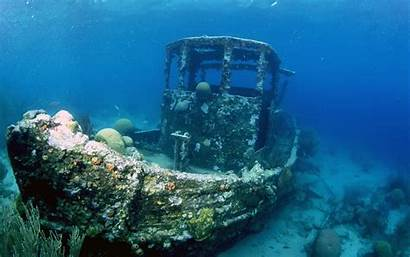 Underwater Shipwreck Ship Boat Water Sea Ocean