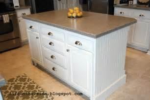 kitchen island cabinets on the v side diy kitchen island update