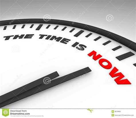 The Time Is Now  Clock Royalty Free Stock Image Image