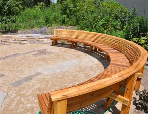 17 best ideas about curved bench on pit