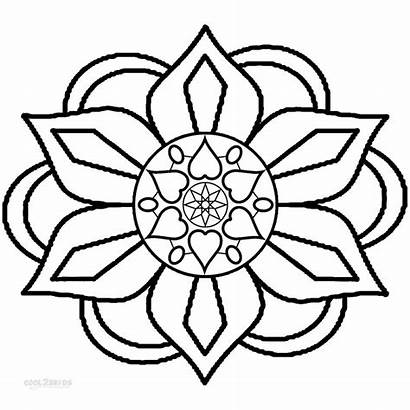 Coloring Rangoli Pages Designs Pattern Diwali Drawing