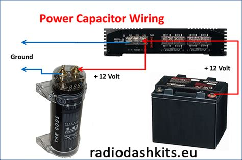how to install an power capacitor radiodashkits car