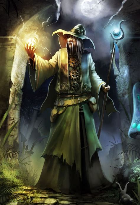 amadeus the wizard fantasy art artist unknown if you