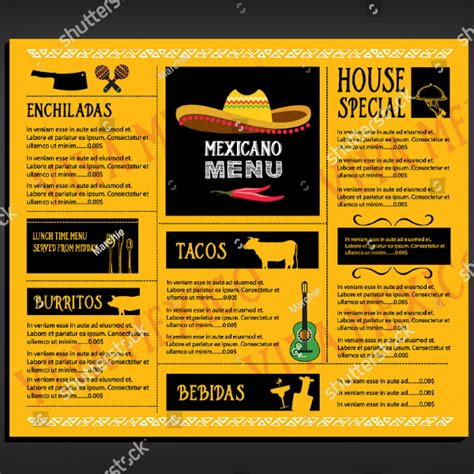 mexican restaurant menu designs templates psd ai