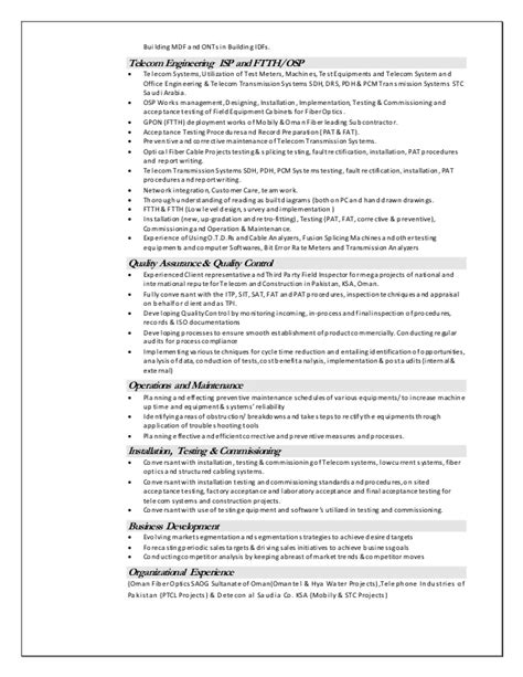 Telecommunications Cable Installer Resume by Anjum Cv 1