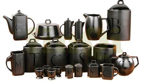 black ceramic kitchen canisters black text ceramic tea coffee sugar biscuit utensil teapot