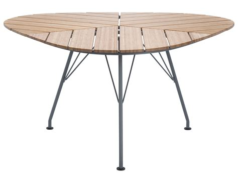 table carree 140x140 avec rallonges leaf garden table triangular 146 x 146 x 146 cm bamboo grey by houe