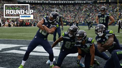 monday   seahawks win nfl touchdown celebration
