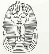 Coloring King Tut Cat Egypt Ancient Childrencoloring sketch template