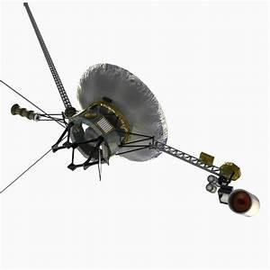 3ds max voyager 1 spacecraft