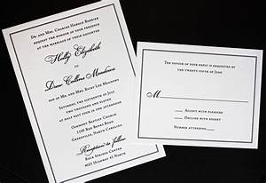 classic black border on cream linen wedding invitations With classic wedding invitations thermography