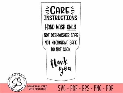 Care instructions free vector we have about (883 files) free vector in ai, eps, cdr, svg vector illustration graphic art design format. Tumbler Care Instructions care card svg Care card Cut file