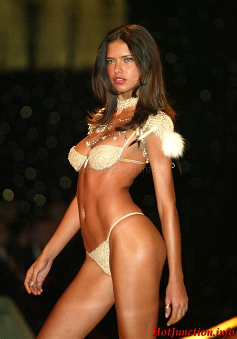 Adriana Lima Modelling Hot Lingerie On Off The Catwalk Hotjunction