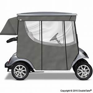 Doubletake 2 Passenger Golf Cart Enclosure Silver