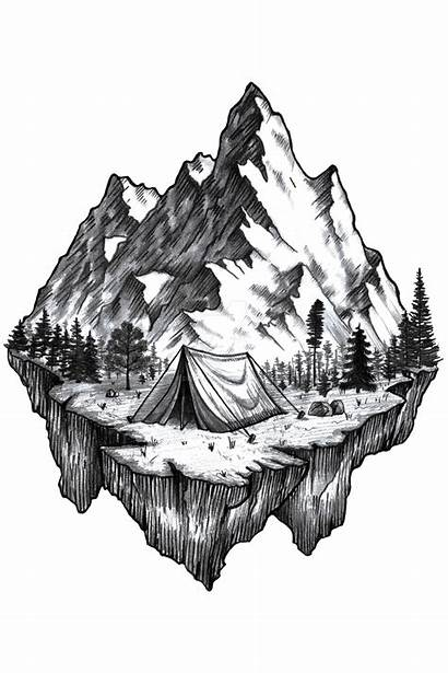 Tattoo Mountains Mountain Drawings Deviantart Sketches Designs