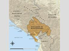 Map of the Kingdom of Montenegro in 1914 NZHistory, New