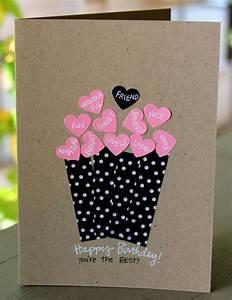 Geburtstagskarten Basteln Ideen : geburtstagskarte selbst gestalten ~ Watch28wear.com Haus und Dekorationen