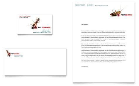 pest control services business card letterhead template