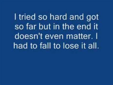The Doors The End Testo by Linkin Park In The End Lyrics