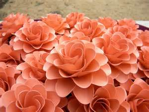favor boxes for weddings paper flowers light coral or salmon color flowers for