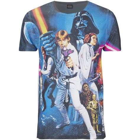 star wars mens classic poster  shirt black merchandise