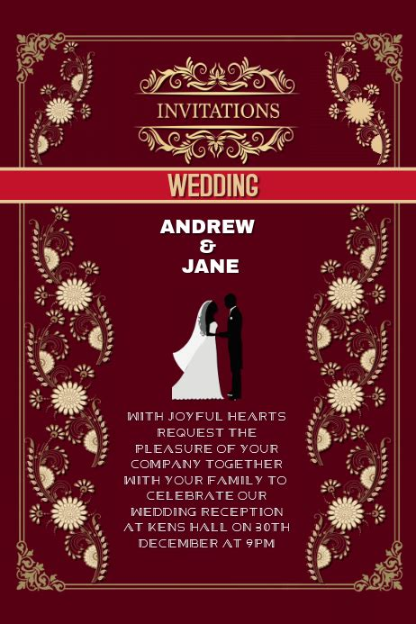 invitation wedding anniversary card Template PosterMyWall