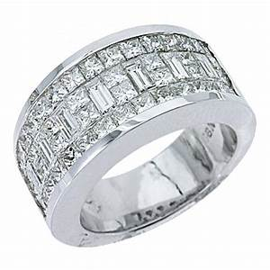 Mens 317 carat princess baguette cut diamond ring wedding for Mens wedding rings baguette diamonds