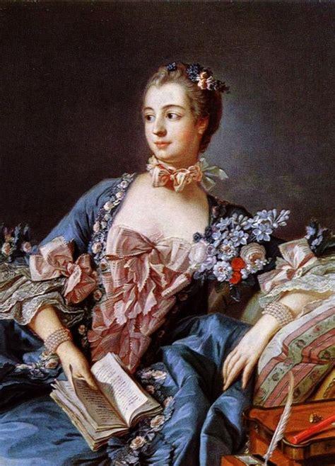 franois boucher la marquise de pompadour portrait of madame de pompadour 1756 detail fran 231 ois boucher 1703 1770 on