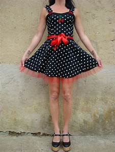 robes courtes robe rockabilly pois cherry skull tattoo With patron robe pin up