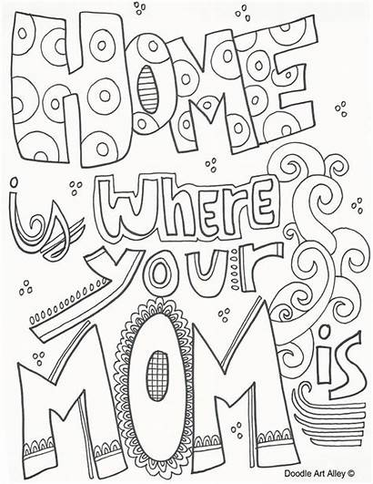 Coloring Doodle Alley Mothers Mother Mom Doodles
