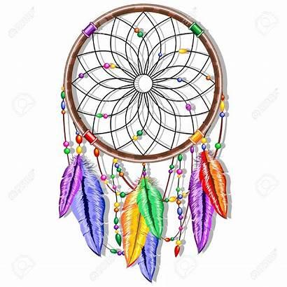 Dreamcatcher Rainbow Feathers Catcher Dream Clipart Vector