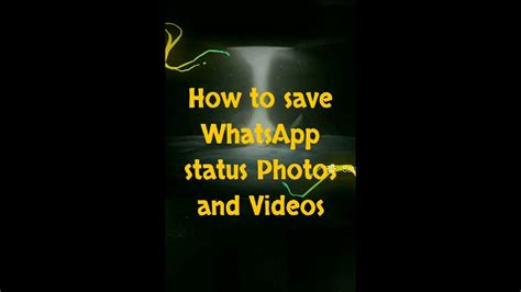 save whatsapp status    youtube