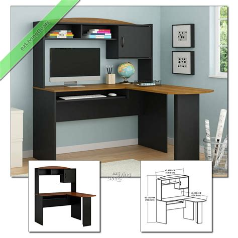 black home office desk with hutch home office desk with hutch l shaped wood corner computer