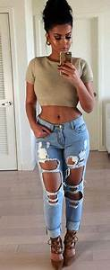 #glamrezy | Amrezy Fashion | Pinterest | Womenu0026#39;s Women wear and Ripped jeans