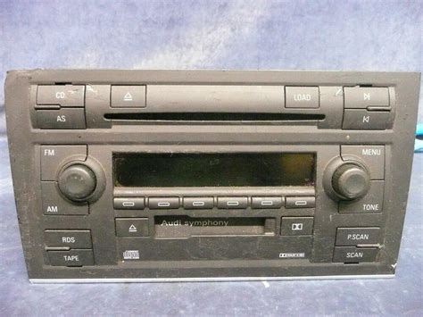 used audi a4 a6 s4 symphony ii stereo 6 player changer tape oem 8e0 035 195 a ebay