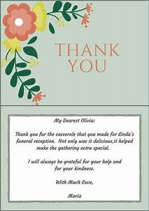 33 best funeral thank you cards funeral note and With thank you card letter