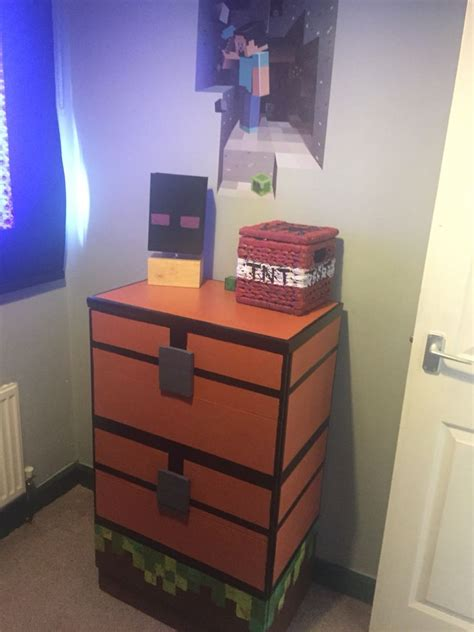 diy minecraft double chest enderman lamp  tnt block