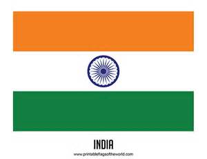 Printable Country Flags India