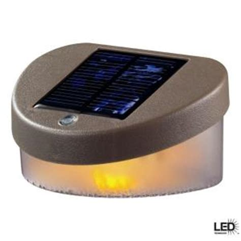 home depot deck lights hton bay deck mount outdoor led solar fence light
