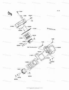 Kawasaki Atv 2006 Oem Parts Diagram For Cylinder  Piston S