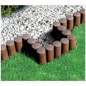 Bordure Plastique Jardin : bordure de jardin imitation rondin de bois ~ Premium-room.com Idées de Décoration