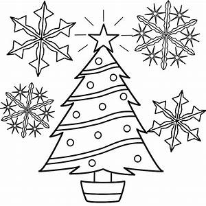 Snowflakes Coloring Page - Coloring Home