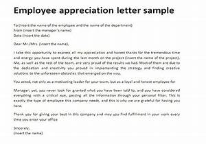 employee appreciation letter all about letter examples With sample letter of recognition for teamwork