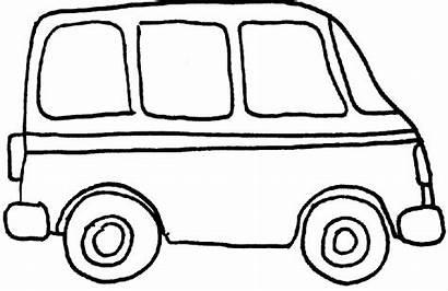Van Coloring Clipart Pages Outline Clip Truck