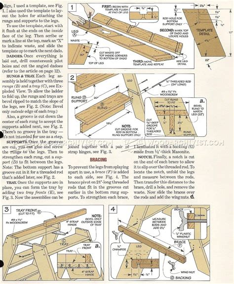 wooden step ladder plans woodarchivist