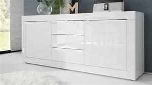 Bahut Blanc Laqué Design : bahut de rangement laqu blanc 2 portes et 3 tiroirs lernig gdegdesign ~ Teatrodelosmanantiales.com Idées de Décoration
